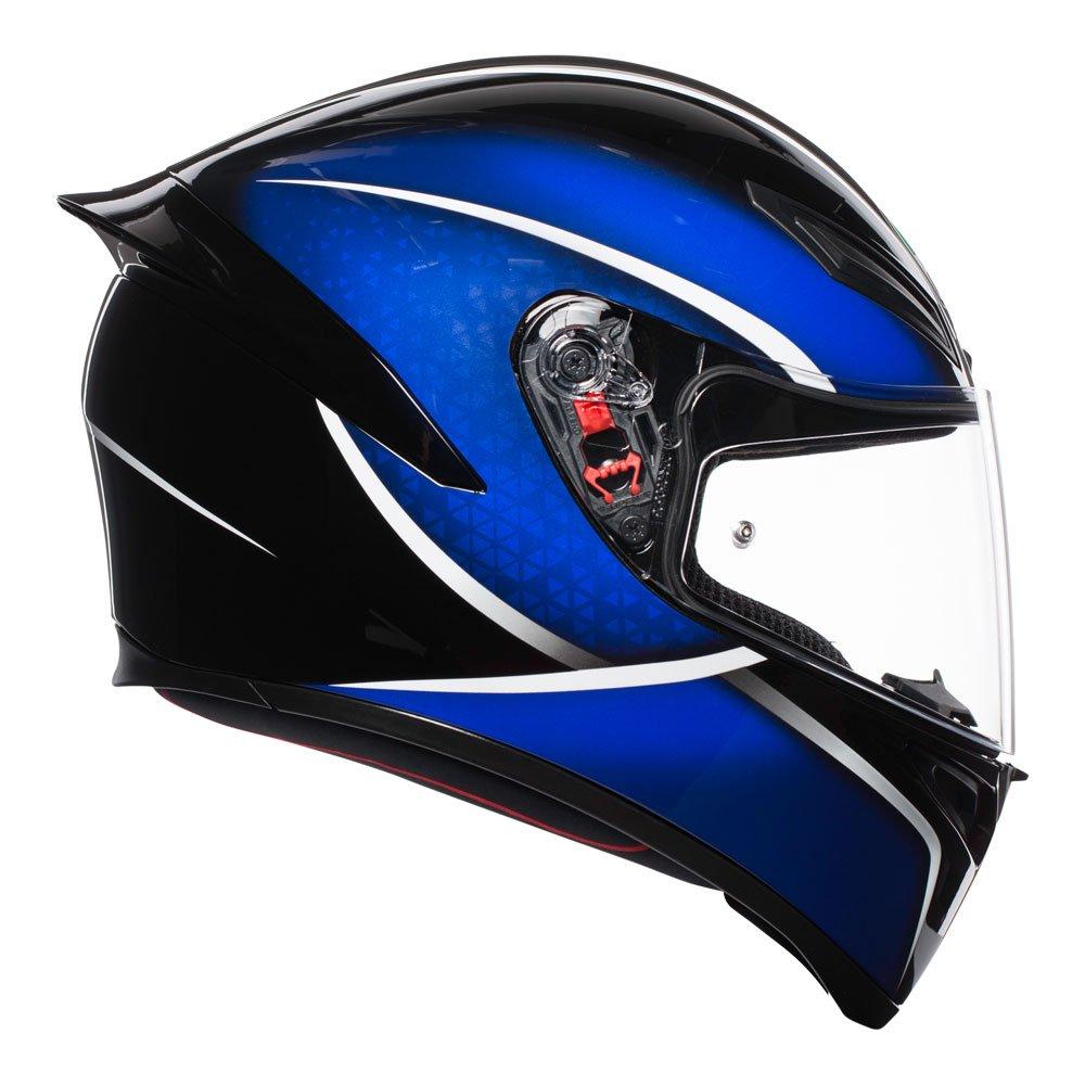 K1 Qualify Black Blue Agv Helmets Australia